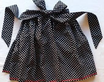 Black and White Polka Dot Full Skirt.  (Child's size 5-8)
