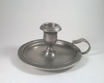 Vintage Royal Selangor Candlestick Holder  Museum V & A - Pewter  - Ornament