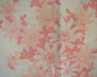 Vintage Pillowslips, Standard Bed Size with Pink Daisies, Pair of Pillowslips, Shabby Cottage,  JC Penny Fashion Manor