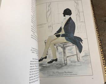 1975 Shades From Jane Austen, Numbered Limited Edition, Italian Leather, Character Silhouettes