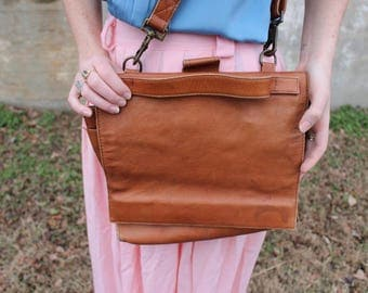 Vintage Brown Leather Hobo International Bag