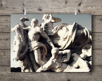 Allegorical No. 1 / Statues On The Tiber River / Rome, Italy / Italian Travel Photography Print / Roman Architecture Wall Art / Neoclassical