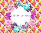 Custom order for Rachel / Custom Carrier bag