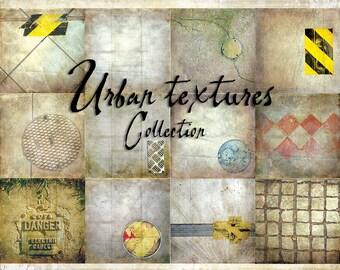 Digital Paper Pack Urban Textures 12x12 downloadable printables