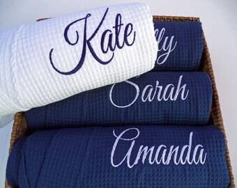 Monogram Robe / Bridesmaid Robes / Bridesmaid Gift / Waffle Robe / Monogram Bridesmaid Gifts / Robe / Wedding Robes / 2