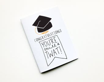 Congratulations Card,Graduation,Well Done,Rude Card,University,Cap and Gown,Milestone Card,Graduate,College Graduation,Funny Graduation Card
