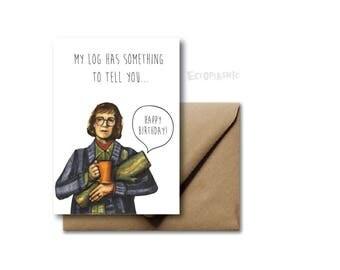 Greeting Card Birthday Card Twin Peaks Log Lady David Lynch