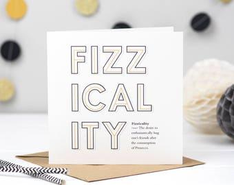 Fizzicality Prosecco Card - Prosecco Card - Prosecco Lover - Funny Prosecco Card