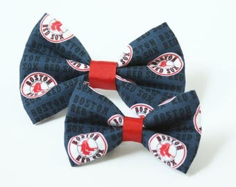 Boston Red Sox Bow Tie for Dog Collar - Red Sox, MLB Baseball, Boston Red Sox