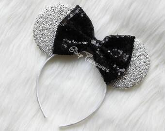 BLACK Mouse Ears Headband. Princess Mouse Ears Headband. Girl Mouse Ears Headband. Women Disney Headband. One Size Fits Most.