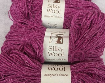 Fifteen Colors of Elsebeth Lavold's Wool/Silk/Nylon Blend DK Weight SILKY WOOL Yarn
