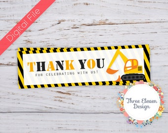 Construction Printable Treat Bag Toppers