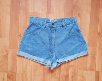 Vintage denim shorts High waisted shorts DENIM high Waisted shorts Denim Daisy Dukes Size 28 Nr. 46
