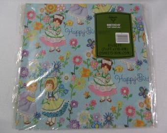 Vintage Gift Wrap, Vintage Wrapping Paper, Ambassador Gift Wrap, Birthday Gift Wrap