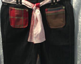 Upcycled  Denim Skirt/Jeans