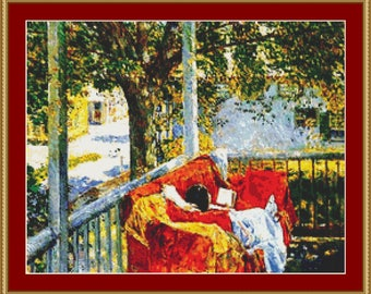 Couch On The Porch Cross Stitch Pattern