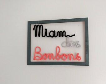 "Decorative wall ""candy yum"""