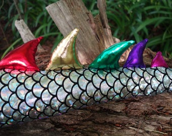 Silver Dragon Tail Costume. Optional Wings Crown or Mask Set! Dinosaur costume.