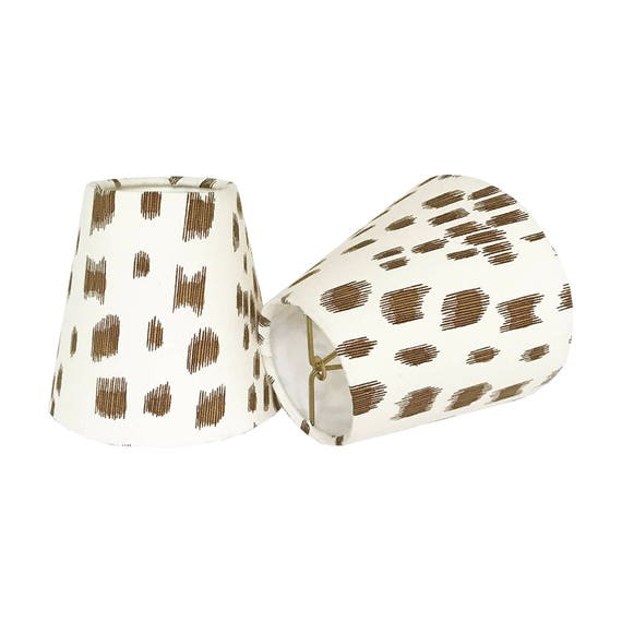 Tan Animal Print Sconce Shades Chandelier Shades Les Touches