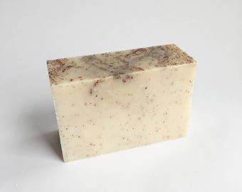 Coconut Soap, Natural Bar Soap, Moisturizing Soap, Scrubbing Soap, Goats Milk Bar Soap, Body Soap, Skin Softening Soap
