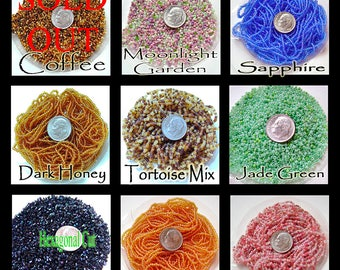 Czech Glass Seed Beads 11/0 Various Colors To Choose From, 10 Grams approx. 1000 Beads, Choice of Color