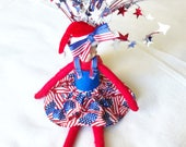 4th Of July Dress For Elf Doll