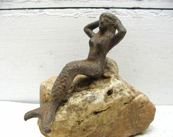 Salty Mermaid for Your Beach House - Great for Shelf or Mantle