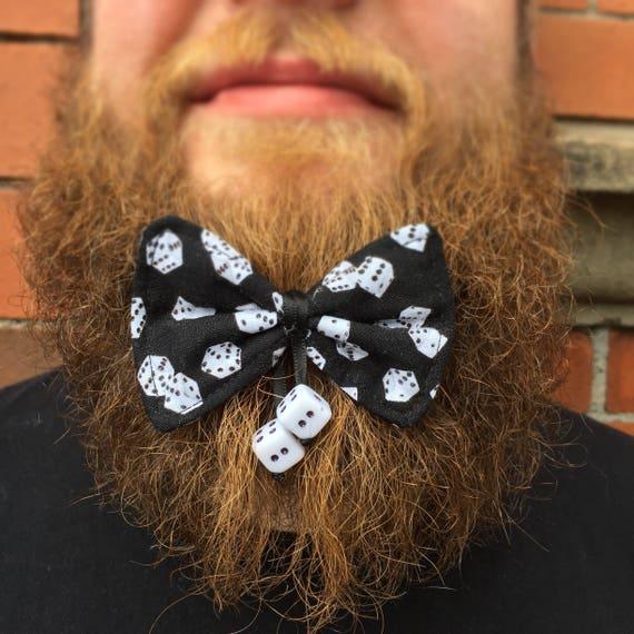 Dice Casino Beard Bow Tattoo Rockabilly