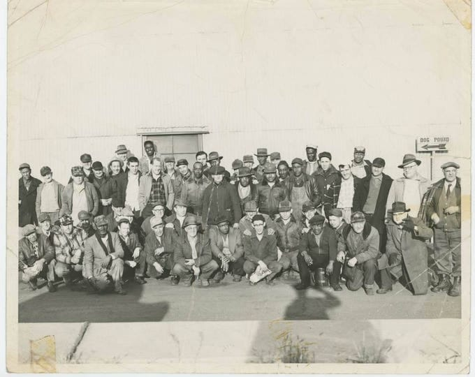 South Bend Indiana City Workers, 1956: Vintage 8x10 Photo (710613 O/S)