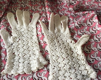 Lovely crochet wrist length gloves