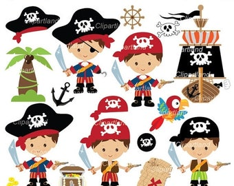 ON SALE INSTANT Download. Cp_61_pirates_boy. Pirate boy clipart. Personal and commercial use.