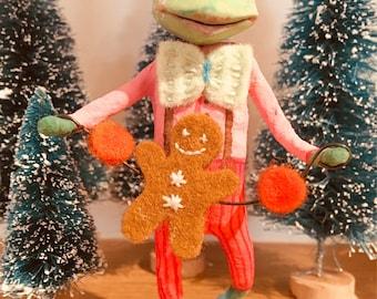 Tip van de Toad, Cupcakebears, Cupcakebearsandme, Christmas tree decoratie, verzamelaars item, handgemaakte