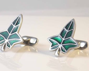 Pewter Ivy Leaf Cufflinks