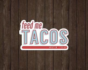 Austin Tacos | Vinyl Sticker Design Collection