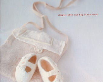 Out-of-Print Ondori Simple Zakka and Bag of Felt Wool - Japanese Craft book