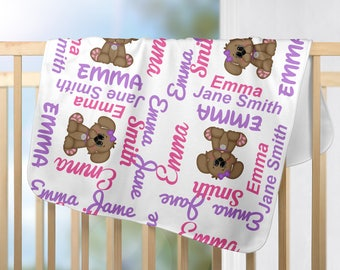 Personalized Dog Baby Blanket - Dog Receiving Blanket  - Custom puppy Blanket - Newborn Swaddling Blanket - Baby Photo Prop