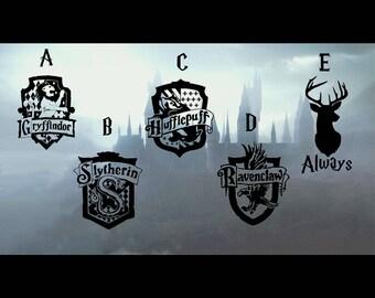 XL Hogwarts Houses Crest Hufflepuff Gryffindor Slytherin Ravenclaw Car Decal