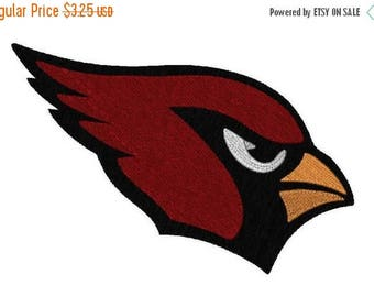 SALE 25% OFF Cardinal Head in 9 Sizes,  Machine Embroidery Design