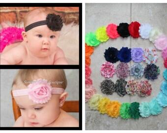 You Pick 4 Baby Headband Set, Shabby Chic Headband, Baby Headband, Infant Headband, Newborn Headband, Toddler Headband - Headband Set