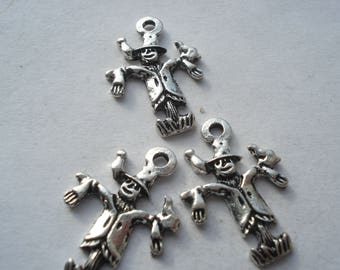 23mm Tibetan Style Antique Silver Alloy Scarecrow Charms, Lead, Cadmium and Nickel Free, Pack of 10 Scarecrow Charms, C373