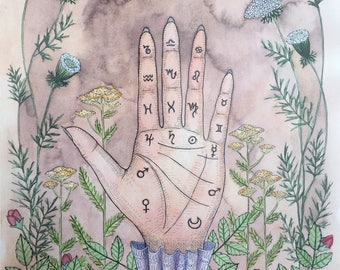 "Print - ""Palmistry Guide"""