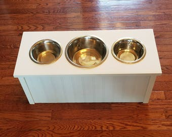 elevated pet feeder comes in 3 different heights u0026 3 dog bowls raised dog