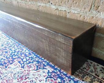 "Reclaimed Wood Fireplace Mantel 77"" x 5-3/8"" x 5-3/8"" - Rustic Mantle Beam - Barn Wood Mantel - Old Growth Barnwood Mantel - Fast Shipping"
