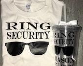 Ring Security Gift Set - Ring Bearer Shirt - Ring Security Gift - Ring Bearer Cup - Bridal Party Gifts - Will you be my ring bearer?