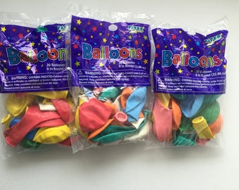 Set of 20 round balloons size 23cm