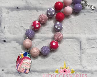 Back to school - School Bag Fall Chunky Necklace
