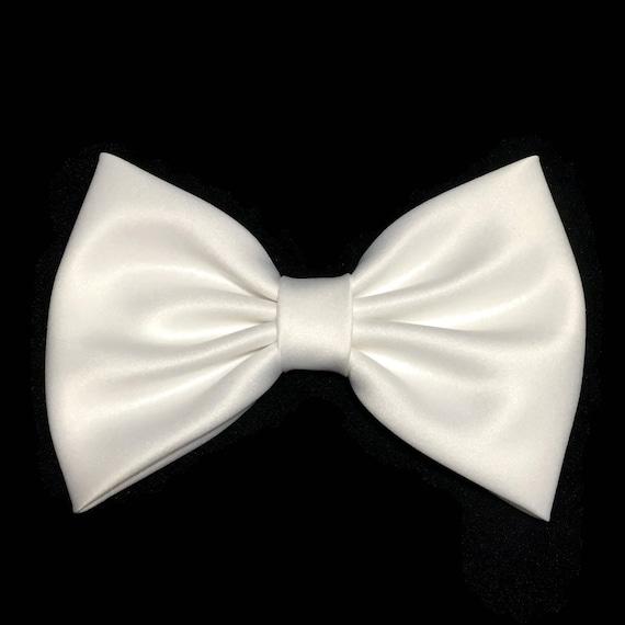 White Hair Bow, White Bow, White Satin Bow, Hair Bows For Girls, Big Hair Bows, Hair Bow For Women, Toddler Hair Bow, Little Girl Bows
