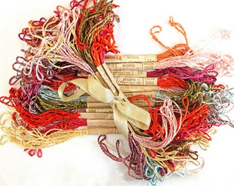 Vintage Glossilla Embroidery Threads*Multi Color Antique Embroidery Floss*11 Skein Lot