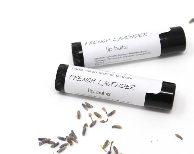 Featured listing image: Organic Lip Butter // French Lavender // Handmade // Relaxing