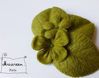 "fascinator hair clip ""winter garden"" green"